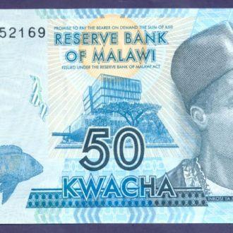 Боны Африка Малави 50 квача 2012 г. Голубая.
