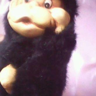 обезьянка меховая  при мысли -вот это да!