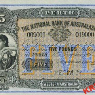 Австралия 5 фунтов 1910 год. КОПИЯ
