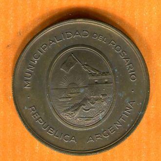 Медаль Аргентина 1924 корабль парусник флаг якорь