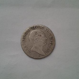 Бавария 6 крейцеров 1812г.Серебро!