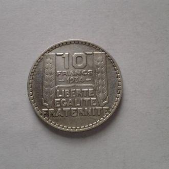 Франция, 10 франков 1934г. 10 грамм.Серебро
