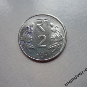 Индия 2 рупии 2015 состояние