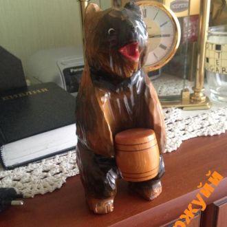 сувенир медведь Россия дерево