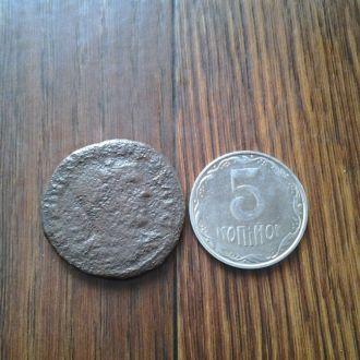 Древний Рим. Большая нечищенная монета