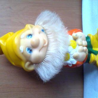Кукла СССР резиновая Гном Донецк клеймо 26 см