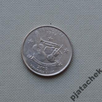 25 центов США Теннесси 2002 г.
