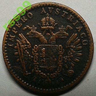 Ломбардия и Венеция 3 сентесими 1852 год РЕДКОСТЬ!