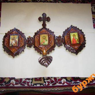 иконный уголок образы Бог свечник
