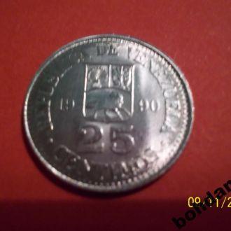 25 сентимос 1990г. Венесуэла UNC