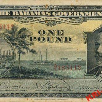 Багамы 1 фунт 1919 год. КОПИЯ