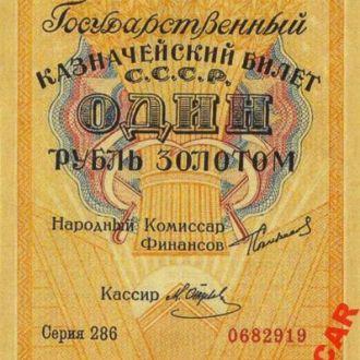 СССР 1 рубль 1924 год. КОПИЯ