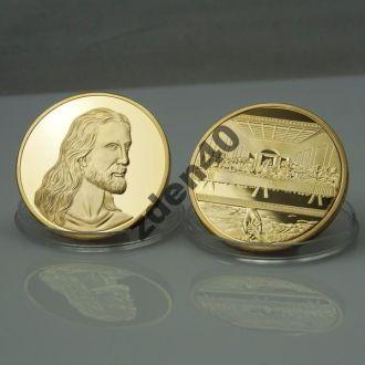 Памятная  медаль  Иисус - тайная вечеря