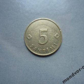 Латвия 5 сантимов 1992