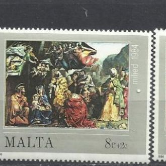 Мальта 1984 живопись Рождество 3м.**