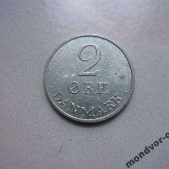 Дания 2 эре 1969 состояние