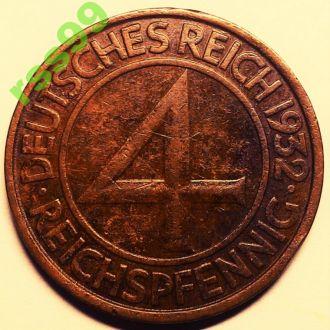 Германия 4 пфеннига 1932 J СОСТОЯНИЕ!!!