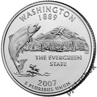 25 центов США Вашингтон 2007 г.
