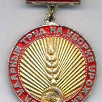 Знак С-Х РСФСР За ударный труд на уборке ДОН-1973.