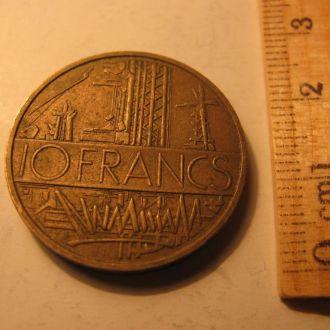 10 Франків Франков Франція Франция 1977 рік