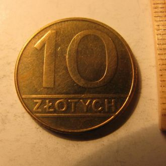 10 Злотих Злотых Польща Польша 1989 рік