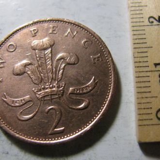 2 Пенса TWO PENCE Великобритания 1989 рік