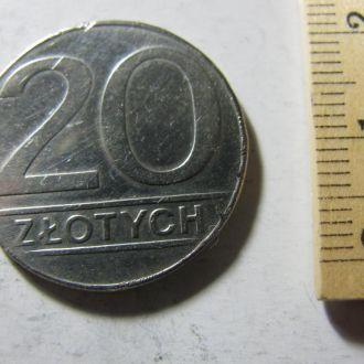 20 Злотых Польша 1989
