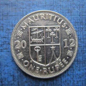 Монета 1 рупия Маврикий 2012