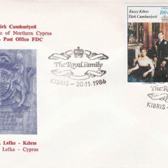 Кипр Турецкий 1986 МОНАРХИЯ КОРОЛЕВА ЕЛИЗАВЕТА II ГОСУДАРСТВО ПОЛИТИКА ПРАВЛЕНИЕ КПД Mi.195-196
