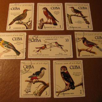 Фауна Птахи Птицы 1971  Куба