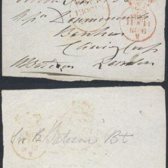 Великобритания вырезка письмо в Лондон 1836