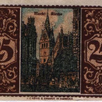 Германия нотгельд 25 пфеннигов 1921 г