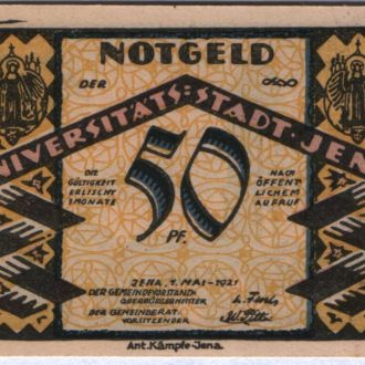 Германия нотгельд 50 пфенингов 1921 г
