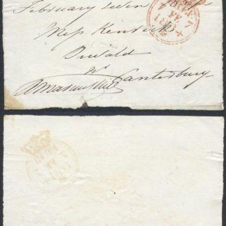Великобритания вырезка Лондон - Кентербери 1834