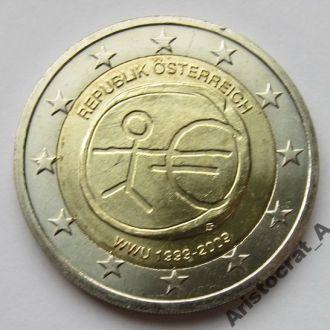Австрия 2 Евро 2009 *10лет Валютному Союзу*