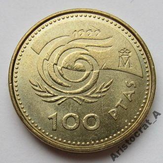 Испания 100 песет 1999 *Год пожилых людей*