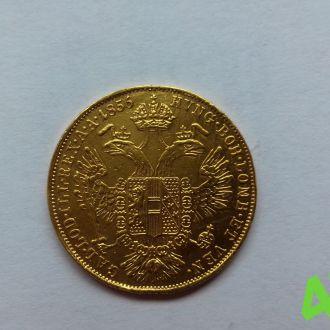 Австро-Венгрия 1 дукат 1855 год,золото UNC