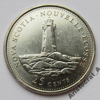 Канада 25 центов 1992 *Провинции: Новая Шотландия*