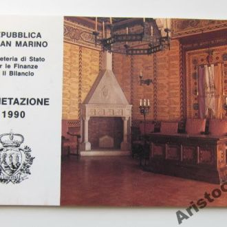 Сан Марино буклет к набору монет 1990