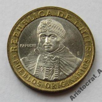 Чили 100 песо 2003 *Индеец Мапуче*