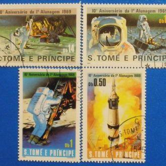 Сан Томе и Принсипи.1980г.10 летие высадки на Луну