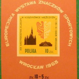Польша. 1963 г. Ваставка марок спортив.тематики
