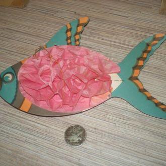 Елочная игрушка СССР. Рыба фонарик