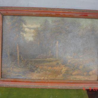 Картина русский лес в рамке