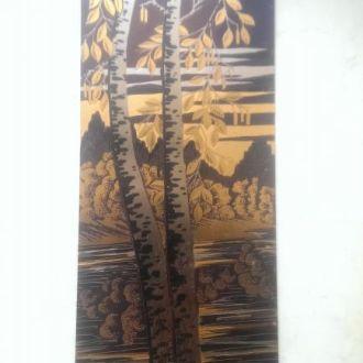 Картина панно златоуст сусальное золото 1981Р СССР