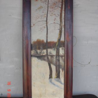 Картина речка зимой