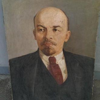 Картина Ленин соцреализм холст СССР