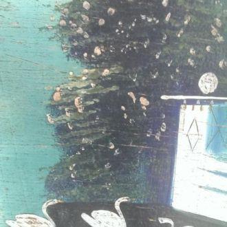 Картина дерево лубок царизм