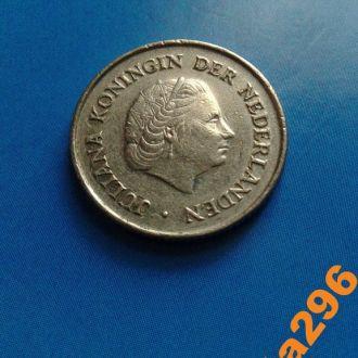 Нидерланды 1972 год монета 25 центов