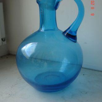 Бутылка графин синее стекло царизм 2